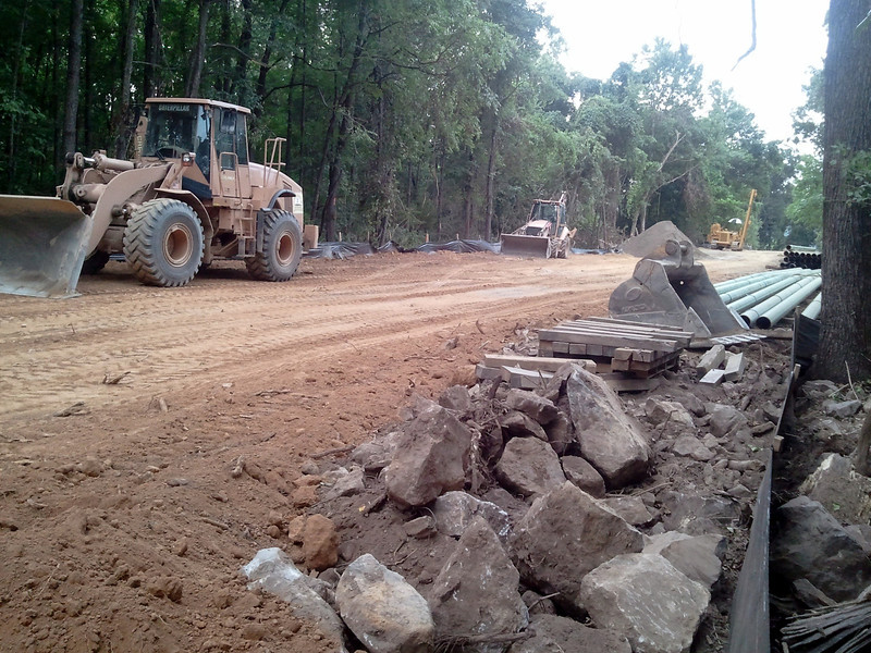 Thursday July 26, 2012 behind my property - a new 2+ lane highway! Not really thank goodness...