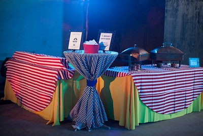 """Our """"Circus Themed"""" food stations  Photo By K and K Photography - http://www.kandkphotography.com/"""