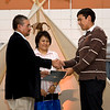 Gregory Rickard receives award at Moose Cree Education Authority 9th Annual Student Awards Dinner