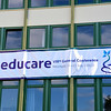 The Educare banner on the front of the SCJs' Herz Jesu Kloster Neustadt
