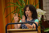 Judith King, Wednesday morning's presenter, began her session with an interactive prayer and song.