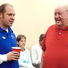 Diane Raver | The Herald-Tribune<br /> Bill Warren (right) shares a laugh with Mark Horstman.