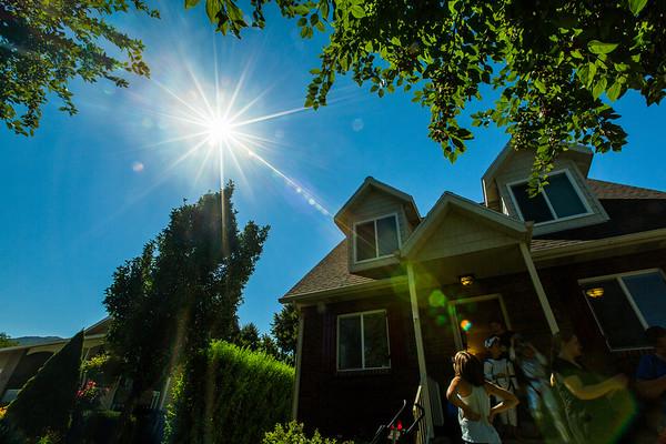 Solar Eclipse, Kaysville, Utah