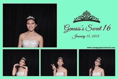 Genesis's Sweet 16 - 01.17.15