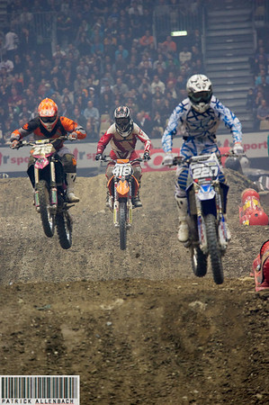 Supercross Geneva 2011 - Anthony Birollaud 215 - Maxence Comte 418 - Axel Noyerie 220