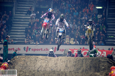 Supercross Geneva 2011 - Ashley Fiolek 67 - Kiara Fontanesi 88 - Larissa Papenmeier 423