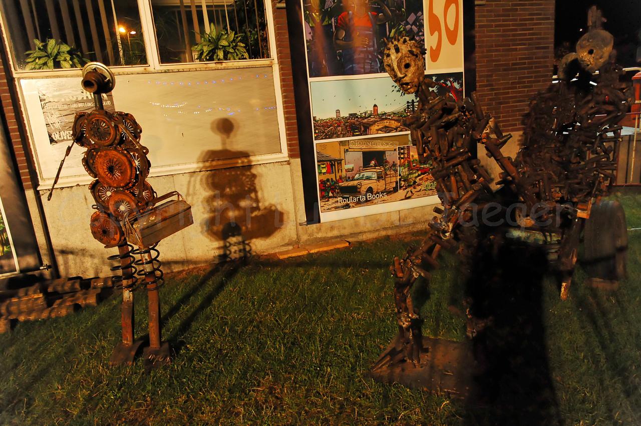 Modern art in the Baudelopark in Ghent (Gent), Belgium, during the 2010 Ghent Festivities (Gentse Feesten).