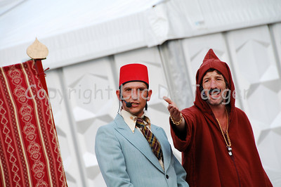 Abu and Habib in their comic performance.