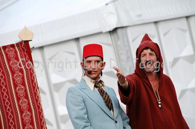 Abu and Habib in their comic performance.