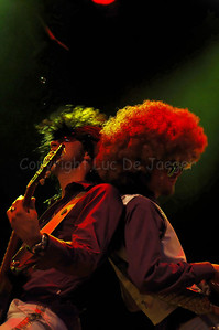 Charming Charles and Boogy B, members of The Vicious, a highly professional Belgian party cover band brought a stunning and impressive music performance on the Korenmarkt during the Ghent Festivities (Gentse Feesten) 2007.  (Original format disabled to protect from theft!)