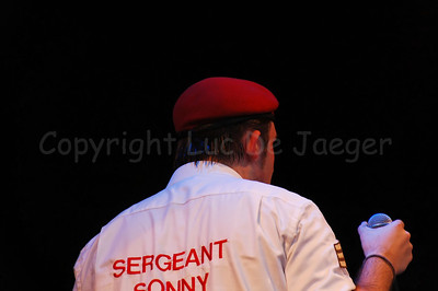 Sergeant Sonny (Sonny), lead singer of The Vicious, a highly professional Belgian party cover band brought a stunning and impressive music performance on the Korenmarkt during the Ghent Festivities (Gentse Feesten) 2007.  (Original format disabled to protect from theft!)