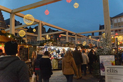 View on the Christmas market.