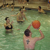 Cory, Alex and Erin playing basketball in the pool.  ( 2009 )