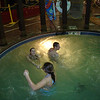Cassie, Erin and Alex in the whirlpool at the waterpark.  ( 2009 )