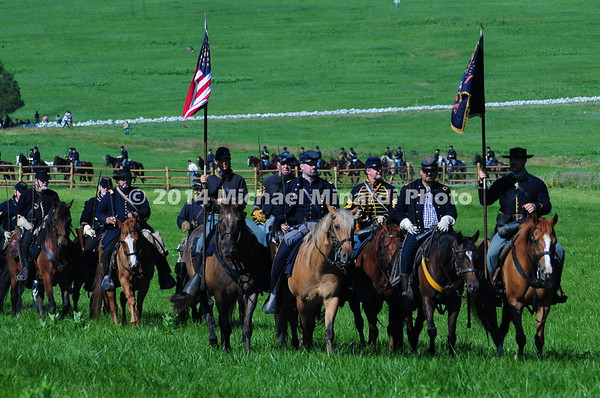 Union cavalry on review before Battle of Buford's Stand MIN_8506