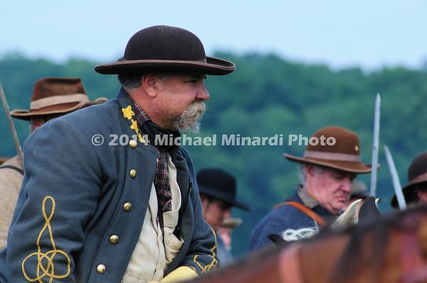 Reenactor portrays a Major General in Confederate Cavalry MIN_9295