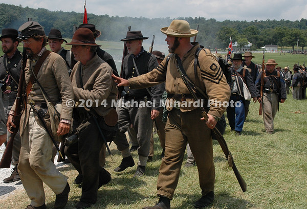 Confederate infantry marches into position to attack DSC_2797B