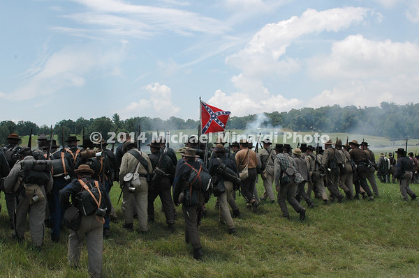 The Rebels attack during Pickett's Charge DSC_2815