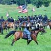 Union cavalry flag bearer gallops during Hanover Cavalry Battle MIN_8731