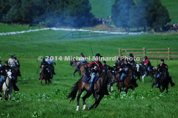 Union cavalry soldiers fight with sabers on horseback MIN_8650