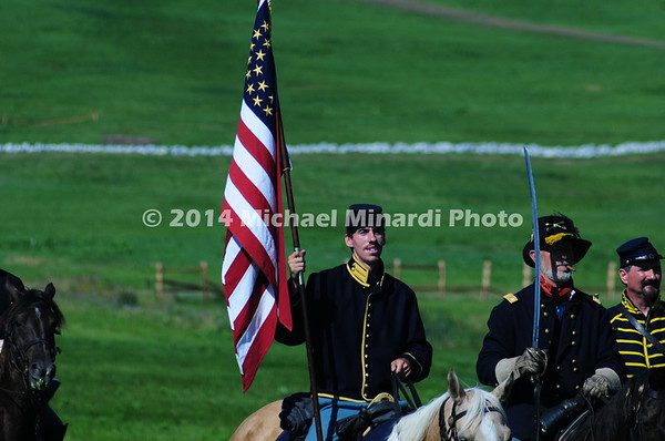 Union cavalry flag  bearer  MIN_8508