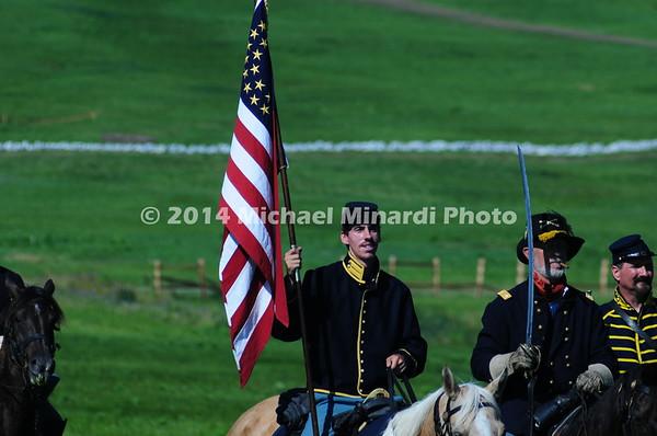 Union cavalry flag  bearer  MIN_8508