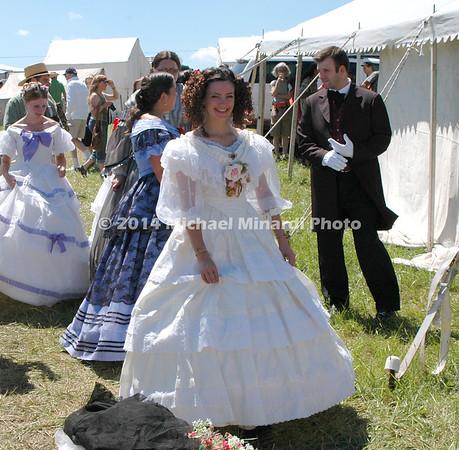 Southern Belle in fancy gown of Civil War DSC_2646B