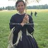 Karen Lenz from Minnesota dress in period attire  DSC_2255B