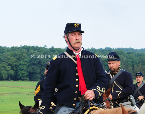 Union cavalry soldiers wear red into battle MIN_9219B