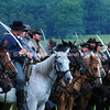 Rebel horsemen draw their sabers before East Cavalry Field Battle MIN_9294B