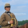 Child bugeler in Gettysburg 150th reenactment 173