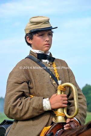 Child bugeler at battle of Gettysburg 150th reenactment 174