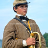Child bugeler at battle of Gettysburg 150th reenactment 174