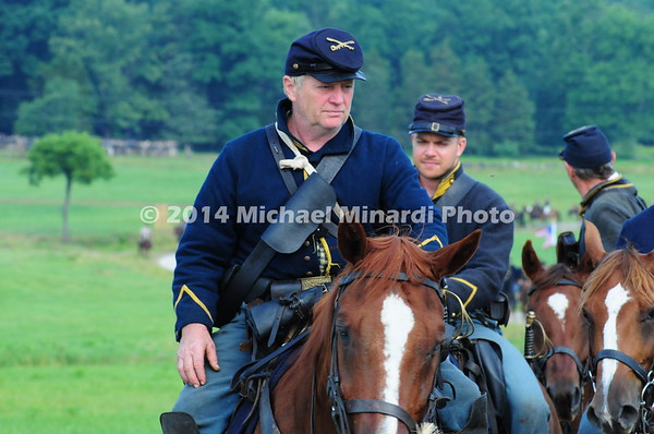 Union cavalry soldiers parade on review prior to a battle  MIN_9202