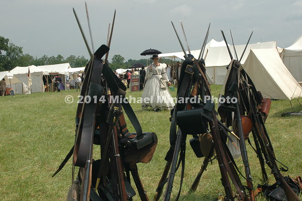 Rifles stacked and Souther Belle in background DSC_2314