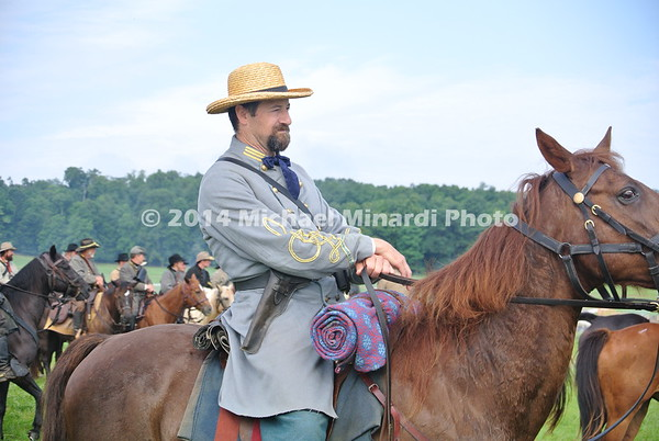 Confederate Cavalry Officer on review prior to battle DSC_2321