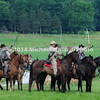 Rebel cavalry raise their sabers for East Cavalry Field Battle  MIN_9301