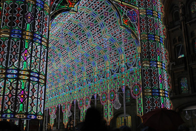 This highly impressive construction by the Italian Luminarie De Cagna is built out of 55,000 colorful LED lights. It was one of the highlights during the 2012 Ghent Light Festival in Belgium.