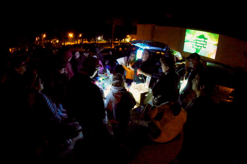 Raffle drawing at North Bay Mobile Drive-In's Ghibli Animation Night  ref: e5336a33-3e17-4555-8286-252c62767491
