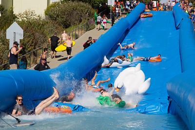 Giant slip'n'sllide at Potrero Hill