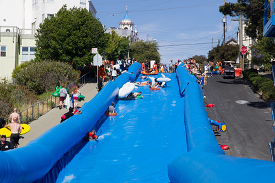 Giant slip'n'sllide at Potrero Hill