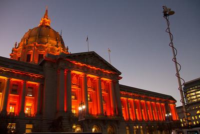 City Hall as the evening grew darker