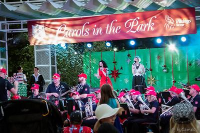 Amber Nichols & Katie de Veau - Carols in Town Park - 20th December 2015