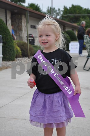 Myka Anderson, 3, of Dakota City, won the Cutie Contest Friday night in the 1- to 4-year-old division.