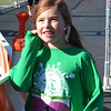 Debbie Blank | The Herald-Tribune<br /> Sunman Elementary School third-grader Kennedy Vunner, 8, was happy to cross the finish line.