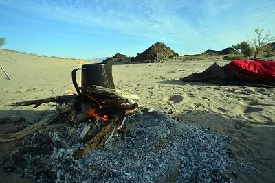 I like my life simple - coffee on open fire