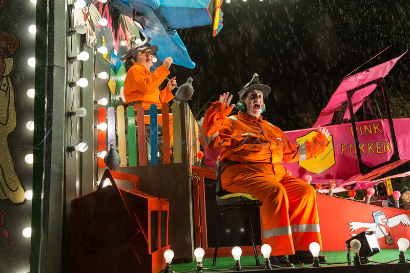 """Glastonbury, UK, 18th November 2017, One Plus One Carnival Club float """"Dastardly and Muttley"""" at the 2017 Glastonbury Carnival"""