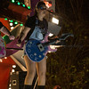 "Glastonbury, UK, 18th November 2017, Gorgons Carnival Club float ""Regeneration (Of Rock)""at the 2017 Glastonbury Carnival"