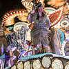 "Glastonbury, UK, 18th November 2017, Gremlins Carnival Club float ""Run To The Hills"" at the 2017 Glastonbury Carnival"
