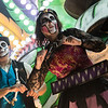 "Glastonbury, UK, 18th November 2017, Wick Carnival Club float ""New Orleans Voodoo"" at the 2017 Glastonbury Carnival"